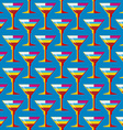 pop art cocktail glass seamless pattern vector image