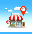 restaurant design with red color point vector image
