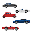 Retro cars classic and sport cars wheel set vector image vector image