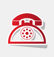 retro telephone sign new year reddish vector image vector image