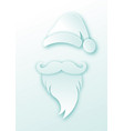 santa claus fashion sticker paper cutting style vector image vector image