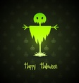 scarecrow for halloween vector image vector image