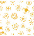 seamless pattern of hand drawn chalk suns vector image