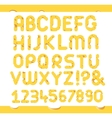 Set of cheese letters vector image