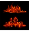 Set of Different Red Scarlet Fire Flame Bonfire vector image vector image