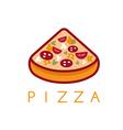 slice of italian pizza design template vector image vector image