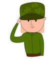 soldier in uniform on white background vector image