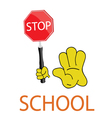 stop school icon vector image
