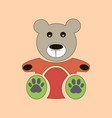 teddy bear icon flat design bear dollv vector image