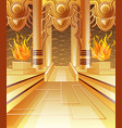the hall of fire vector image