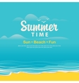 Travel banner with the sea vector image vector image