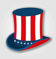 uncle sams hat icon isolated on white background vector image vector image