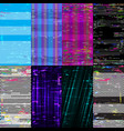 vertical wallpaper glitch backgrounds vector image vector image
