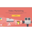 Video Marketing Concept for Banner Presentation vector image
