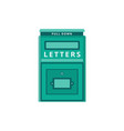 vintage metal mailbox for sending letters flat vector image vector image
