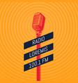 vintage microphone radio vector image vector image
