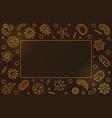 viruses golden horizontal frame virology vector image vector image