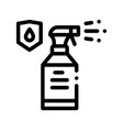 waterpromaterial spray thin line icon vector image