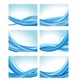 waves set vector image vector image