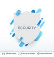 white badge shield silhouette sticker vector image