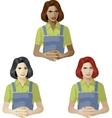 Woman in worker uniform support expert vector image vector image