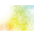 yellow green square background vector image