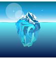 iceberg in ocean water vector image