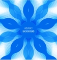 Abstract blue circle background with banner vector image