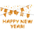 happy new year gold poster card vector image