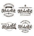 oktoberfest beer festival celebration vector image