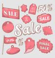 sale discount hand drawn labels set vector image