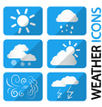 Weather Icons Set Symbols with Clouds Sun and vector image