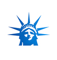 liberty statue head freedom logo vector image