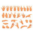 various hands gestures vector image