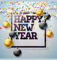2018 happy new year with typography vector image vector image