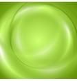 Abstract green shiny wavy design vector image vector image