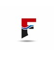 Abstract letter F logo vector image