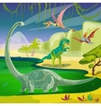 Animals Jurassic Composition vector image