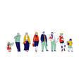 big happy family male female young and senior vector image vector image