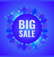 big sale concept modern banner vector image vector image