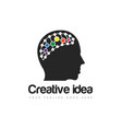brain logo and icon vector image vector image