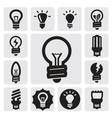 bulbs icons vector image vector image