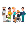 business people collection vector image vector image