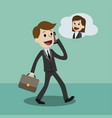 businessman or manager in a suit with a briefcase vector image vector image