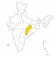 chattisgarh vector image vector image