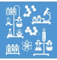 Chemistry decorative icons set vector image vector image