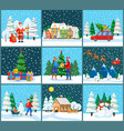 christmas and new year winter holidays celebration vector image vector image