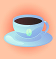 coffee cup for web design vector image vector image