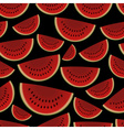 colorful sliced melon fruits seamless dark pattern vector image vector image