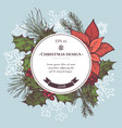composition with colored snowflakes vector image